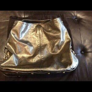 Rare Gold Leather Rebecca Minkoff Nikki Hobo